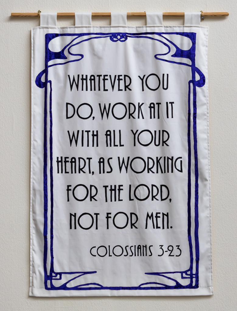 Banner displaying Colossians 3v23